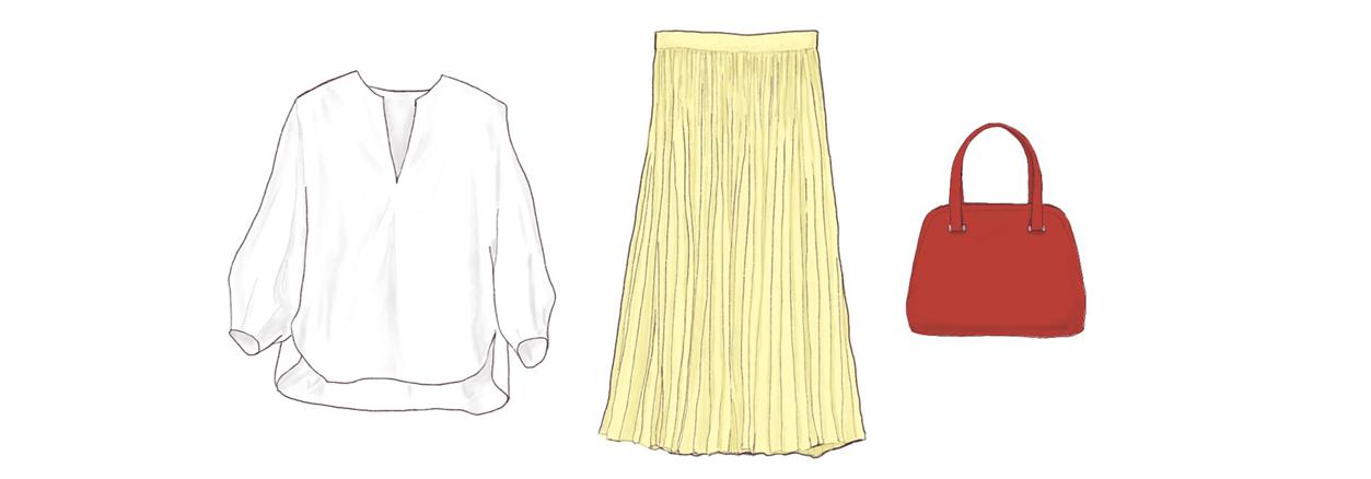 直線&曲線のファッションアイテム