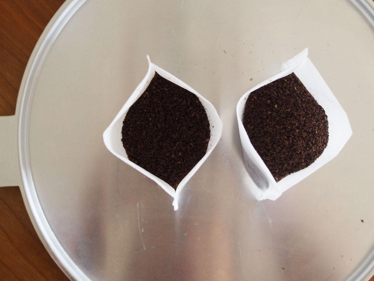 お茶パックに入れたコーヒー