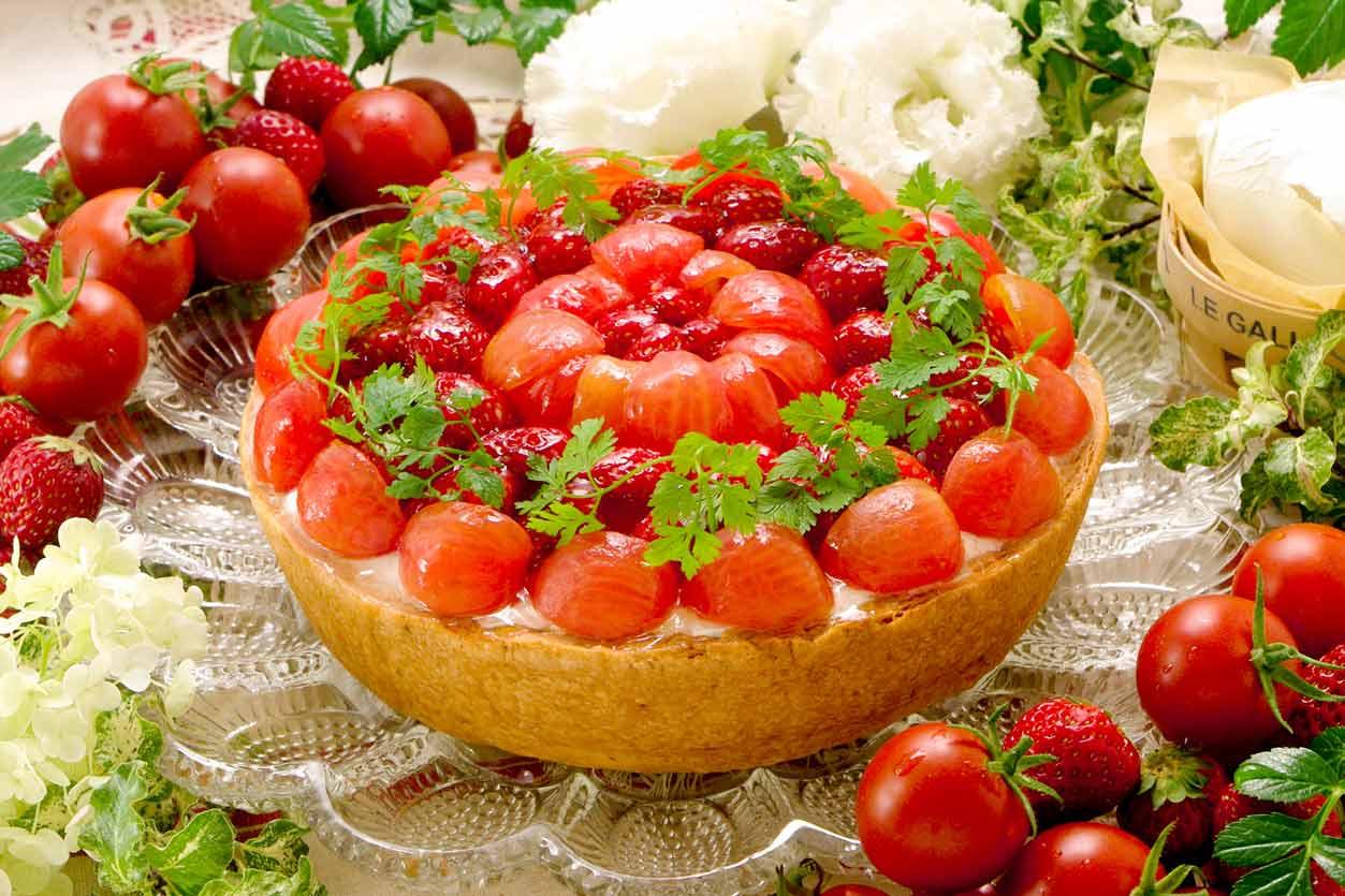 キルフェボン フルーツトマトとチーズのタルト