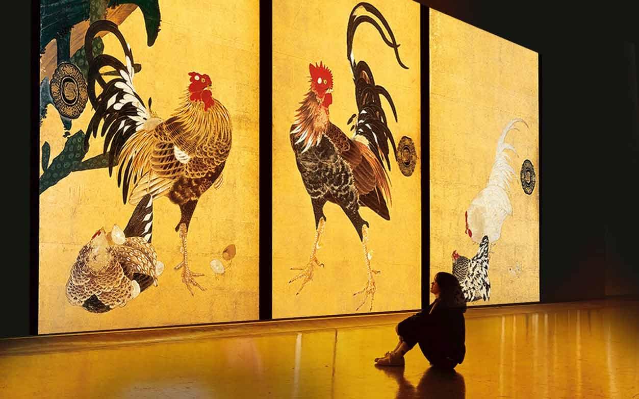 『巨大映像で迫る五大絵師』−北斎・広重・宗達・光琳・若冲の世界−